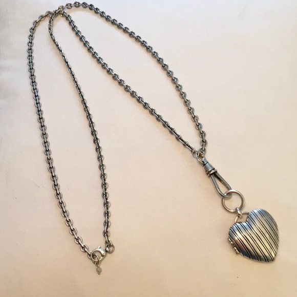 05921a837cb Fossil Jewelry - Silver Heart Locket Necklace